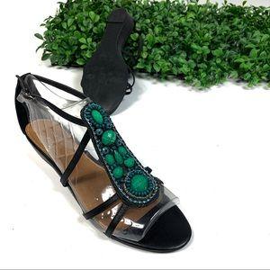 Kelsie Dagger Amara Jeweled Leather Sandal